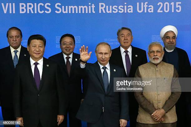 Pakistan's Prime Minister Muhammad Nawaz Sharif Chinese President Xi Jinping Mongolian President Elbegdorj Tsakhia Russian President Vladimir Putin...