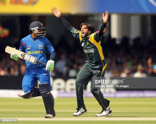 Pakistan's Shahid Afridi appeals for a wicket during the Final of the ICC World Twenty20 at Lords London