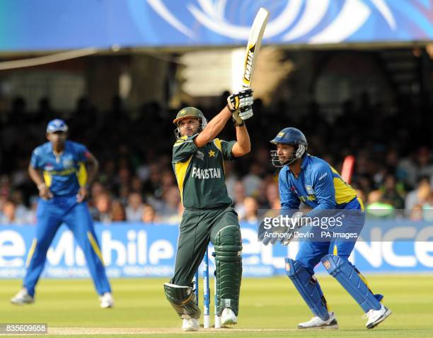 Pakistan's Shahid Afridi bats during the Final of the ICC World Twenty20 at Lords London