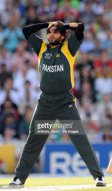 Pakistan's Shahid Afridi during the ICC World Twenty20 Super Eights match at The Brit Oval London