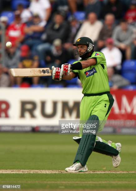 Pakistan's Shahid Afridi on his way to a score of 16 not out