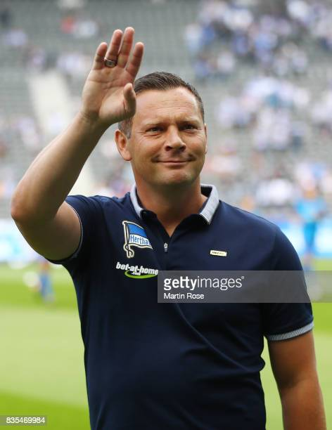 Pal Dardai of Hertha BSC Berlin during the Bundesliga match between Hertha BSC and VfB Stuttgart at Olympiastadion on August 19 2017 in Berlin Germany