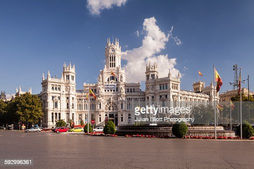 Palacio de Comunicaciones and Plaza de la Cibeles.