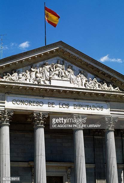 Palacio de las Cortes 18431850 where the Spanish Congress of Deputies meet Madrid Spain 19th century