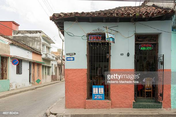 Paladar or Restaurant El Alba a popular private small familial restaurant which cooks exclusively with charcoal the creole or traditional Cuban food