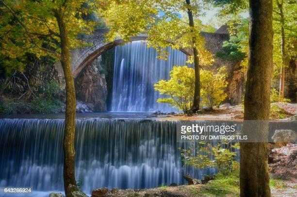 Palaiokarya's stone bridge and falls3