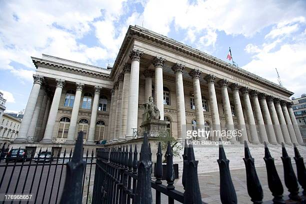 Palais Brongniart the historical Paris stock exchange known as Euronext Paris on August 07 2013 in Paris France