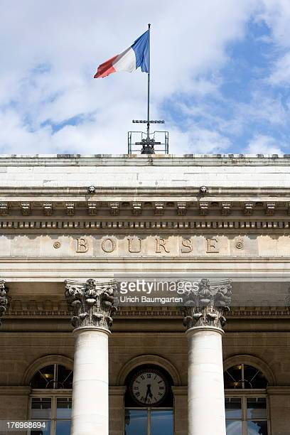 Palais Brongniart the historical Paris stock exchange known as Euronext Paris in the French capital Paris on August 07 2013 in Paris France