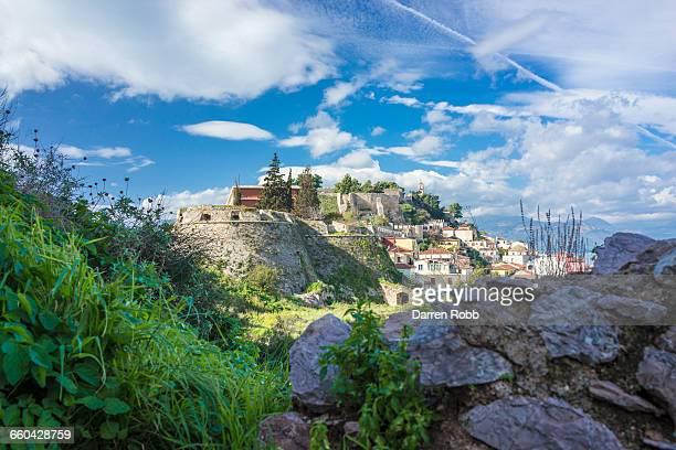 Palamidi castle and Nafplio town, Nafplio, Greece