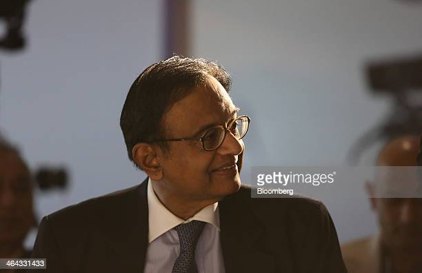 Palaniappan Chidambaram India's finance minister arrives to attend a session on the opening day of the World Economic Forum in Davos Switzerland on...