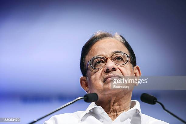 Palaniappan Chidambaram India's finance minister pauses at the Annual Bankers' Conference in Mumbai India on Friday Nov 15 2013 Chidambaram said new...