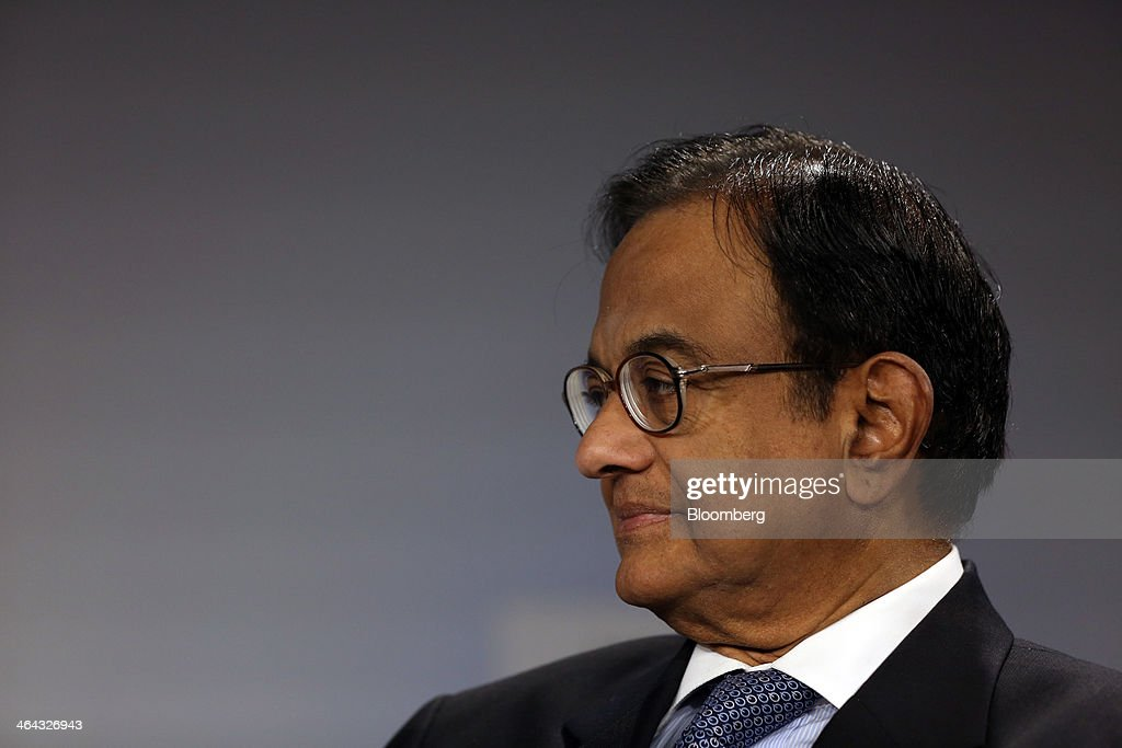 Palaniappan Chidambaram India's finance minister pauses during a session on the opening day of the World Economic Forum in Davos Switzerland on...