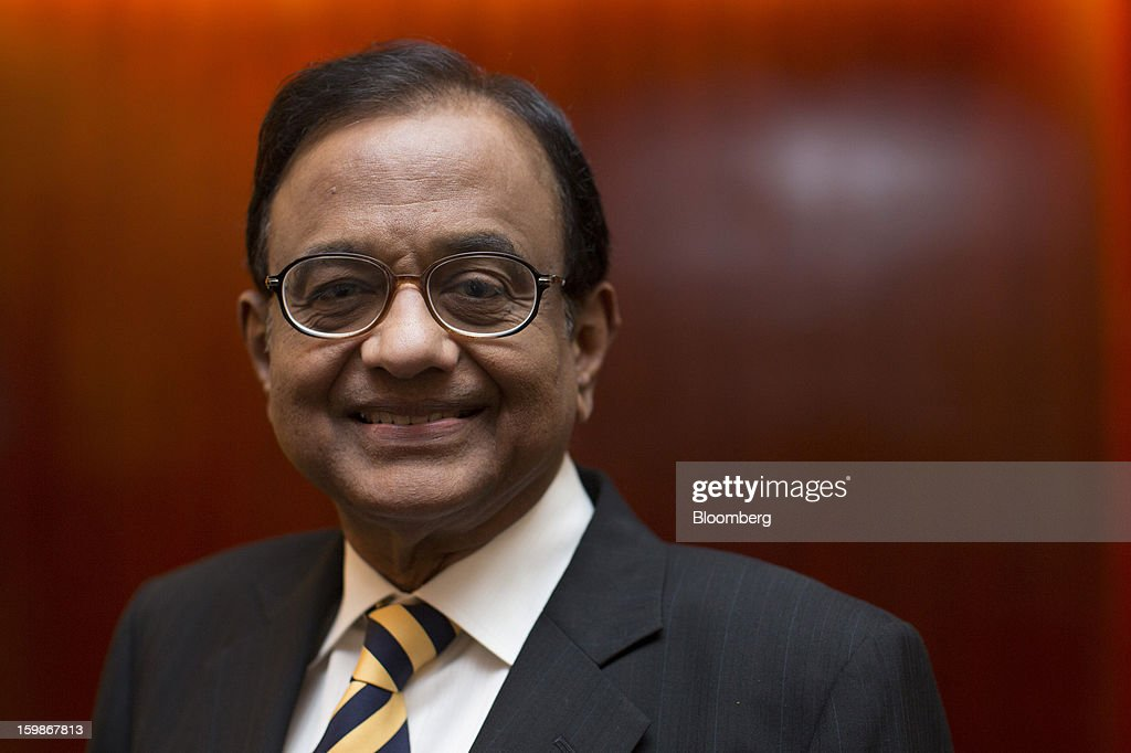 <a gi-track='captionPersonalityLinkClicked' href=/galleries/search?phrase=Palaniappan+Chidambaram&family=editorial&specificpeople=5611200 ng-click='$event.stopPropagation()'>Palaniappan Chidambaram</a>, India's finance minister, stands for a photograph after a media briefing in Hong Kong, China, on Tuesday, Jan. 22, 2013. India's government has taken corrective measures to curb its budget deficit and sees no case for a rating downgrade to junk, Chidambaram told investors in Hong Kong today. Photographer: Jerome Favre/Bloomberg via Getty Images
