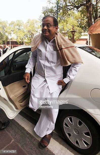 Palaniappan Chidambaram India's home minister arrives at the Indian Parliament in New Delhi India on Friday March 16 2012 India's economy is expected...