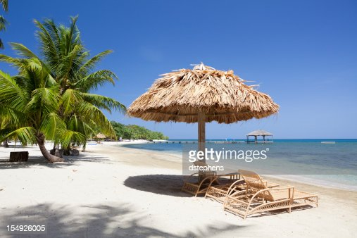 Palapa on Tropical Beach