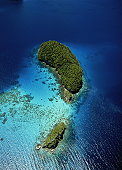 Palau, Rock Islands, aerial view