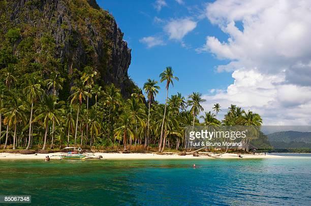 Palawan island, beach at El Nido