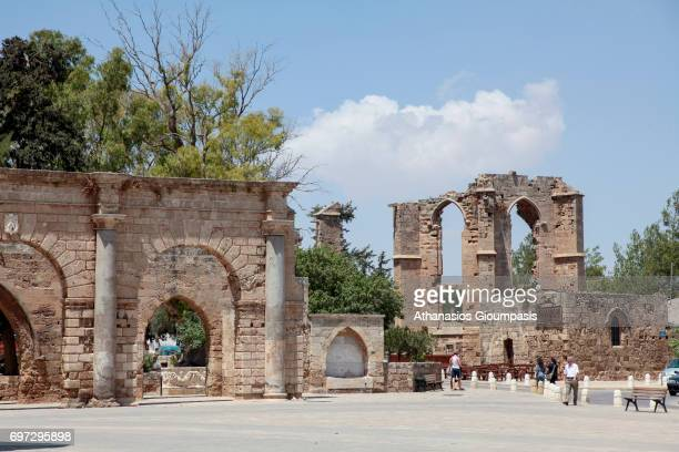 Palazzo del Provveditore the Royal Palace entrance on July 06 2010 in Famagusta CyprusThe city was founded around 274 BC Famagusta is a city on the...