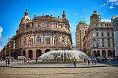 Historical center of Genoa at 'Piazza de Ferrari'