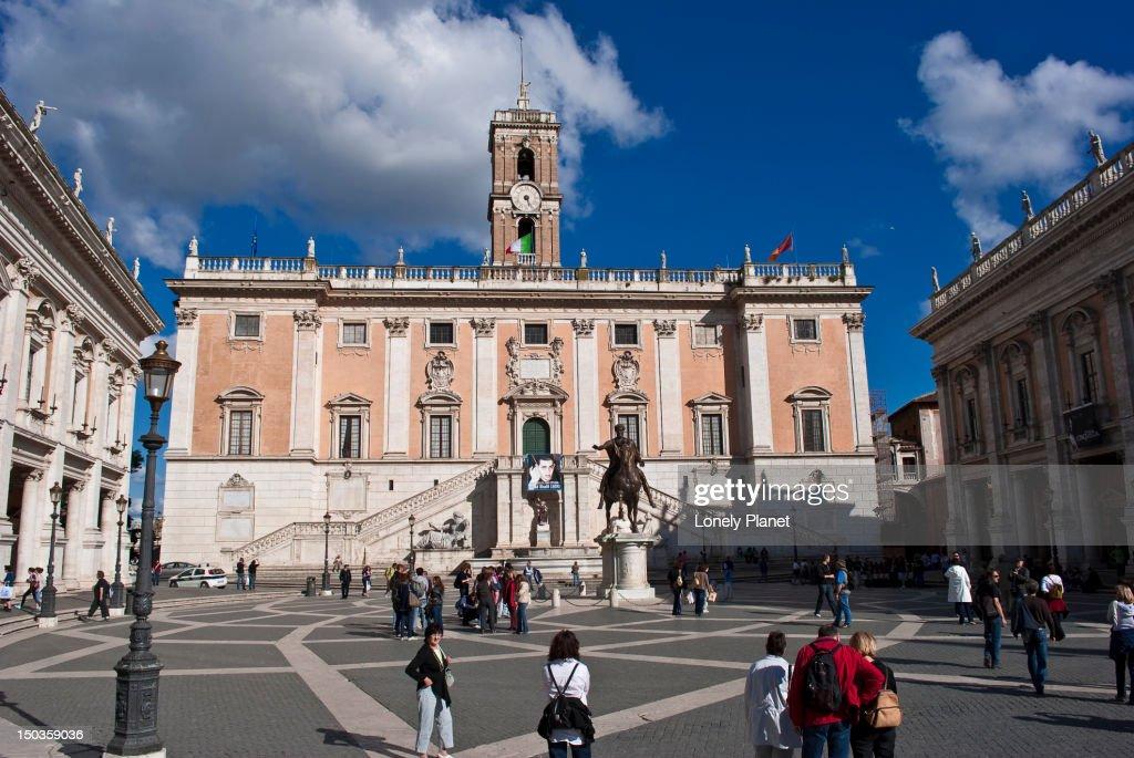 Palazzo Senatorio In Piazza Del Campidoglio.