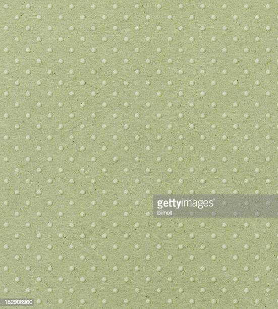 Carta verde chiaro con pois in rilievo