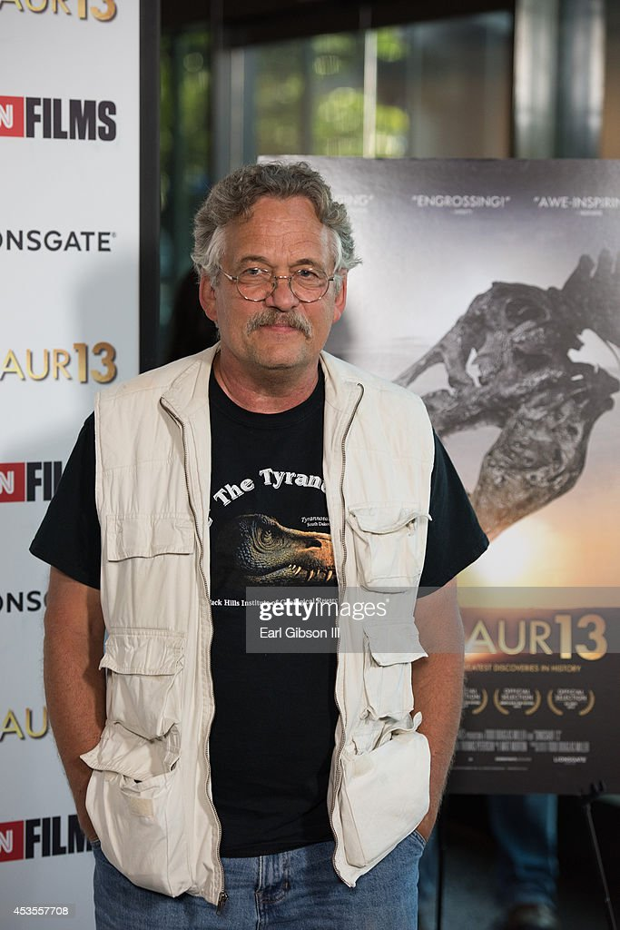 Palentologist Peter Larson attends the premiere of Lionsgate and CNN Film 'Dinosaur 13' at DGA Theater on August 12, 2014 in Los Angeles, California.