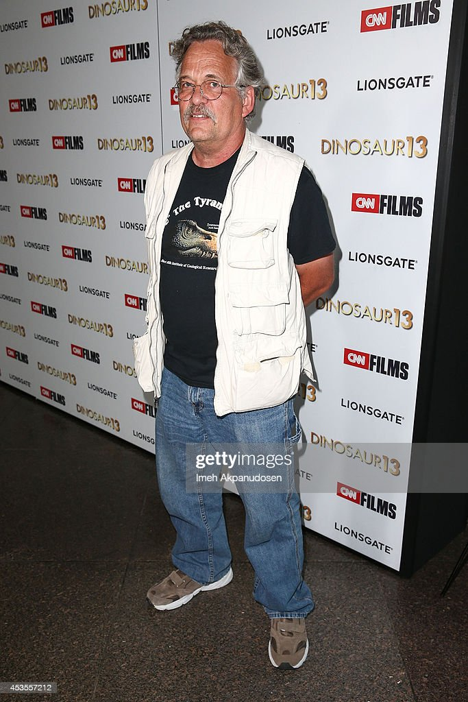 Paleontologist Peter Larson attends the premiere of Lionsgate and CNN Films' 'Dinosaur 13' at DGA Theater on August 12, 2014 in Los Angeles, California.