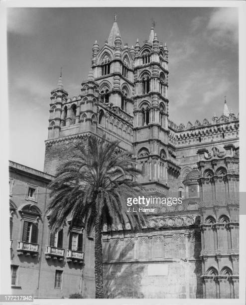 Palermo Cathedral an architectural complex characterized by the presence of different styles due to a long history of alterations Sicily circa...