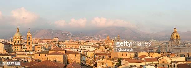 Palermo city view at dawn