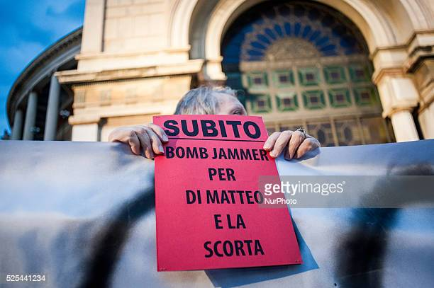 Palermo Dec 20 2013 People demand Bomb Jammer a device that neutralizes remote controls used to activate bombs People demonstrated to show support...