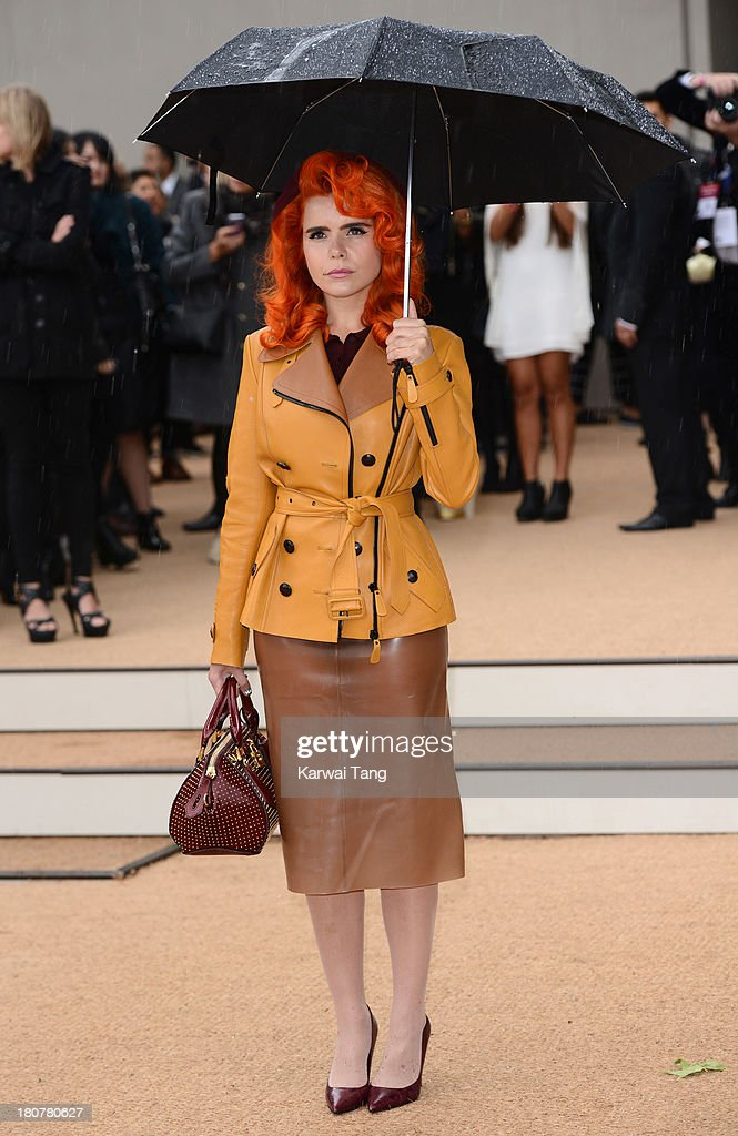 Palermo Faith attends the Burberry Prorsum show during London Fashion Week SS14 at Kensington Gardens on September 16, 2013 in London, England.
