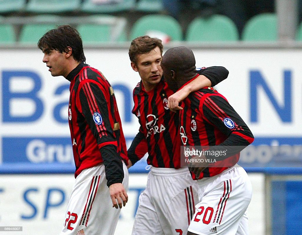 Milan s players Kaka L Andriy Shevche