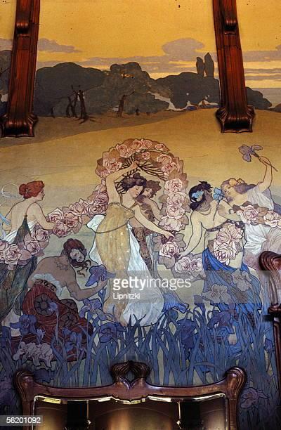 Palermo Villa Igiea hotel Mural by Ettore de MariaBergler