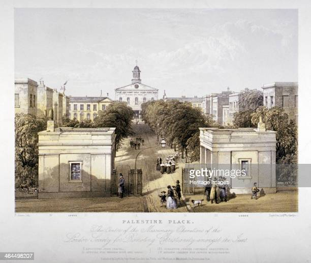 Palestine Place Bethnal Green London c1840 Palestine Place was the centre of missionary operations of the London Society for promoting Christianity...