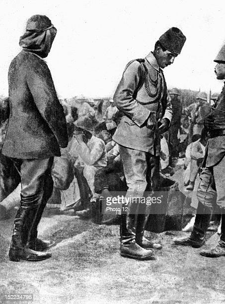 Palestine World War I An Ottoman general prisoner of the English at the moment of the fall of Jerusalem
