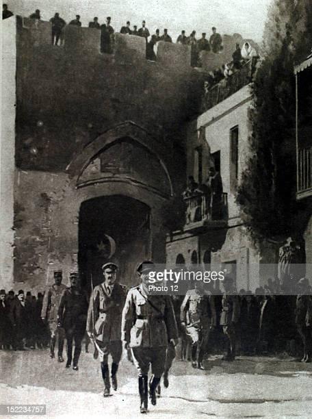 Palestine World War I General Allenby entering Jerusalem
