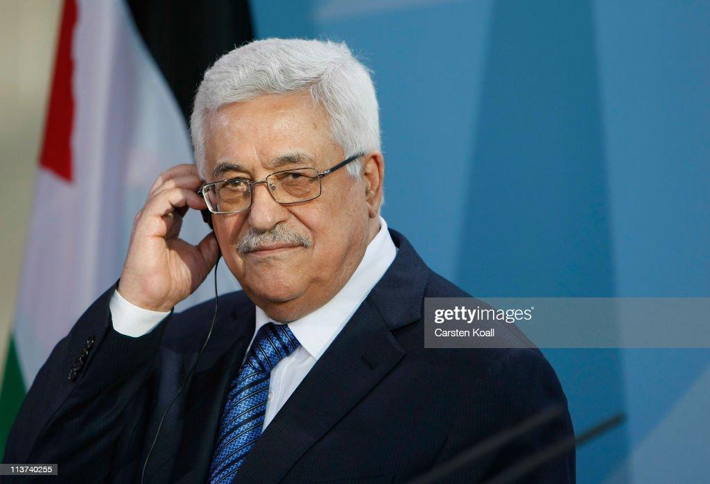Palestinian President Abbas Meets With Merkel
