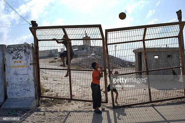 Palestinian children play soccer at the Rafah border with Egypt by the sea in Gaza October 22 2011 Since the Islamist group Hamas came to power in...