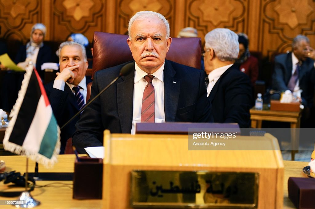Palestinian Foreign Minister <a gi-track='captionPersonalityLinkClicked' href=/galleries/search?phrase=Riyad+al-Maliki&family=editorial&specificpeople=4534561 ng-click='$event.stopPropagation()'>Riyad al-Maliki</a> is seen during Arab League foreign ministers meeting in Cairo, Egypt on March 9, 2015.