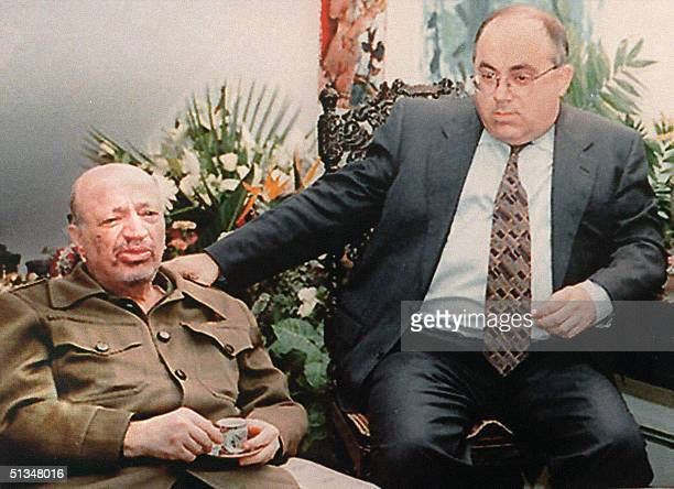 Palestinian Leader Yasser Arafat shown in this file picture dated 09 November 1995 in TelAviv in a first ever visit as Palestinian leader to the...