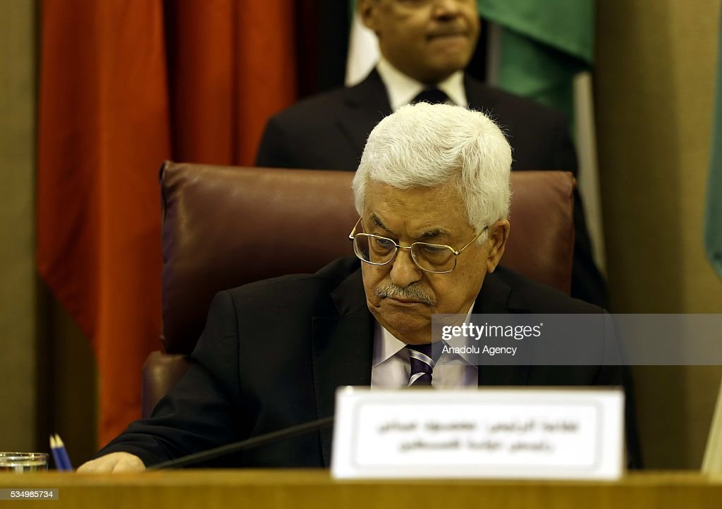 Palestinian President Mahmood Abbas attends a meeting of Arab foreign ministers to discuss a French peace initiative in Cairo on May 28, 2016.