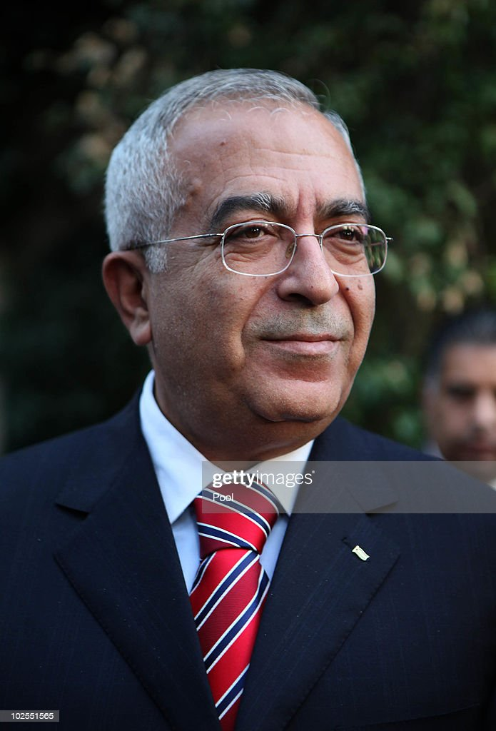 Palestinian Prime Minister <a gi-track='captionPersonalityLinkClicked' href=/galleries/search?phrase=Salam+Fayyad&family=editorial&specificpeople=2162597 ng-click='$event.stopPropagation()'>Salam Fayyad</a> attends a reception for the upcoming American Independence Day at the American consulate June 30, 2010 in Jerusalem, Israel.