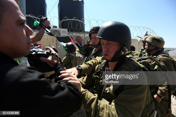 Palestinians clashed with Israeli Soldiers during demonstration at Hawara checkpoint in the marking Nakba quot66quot near Nablus city in the West...