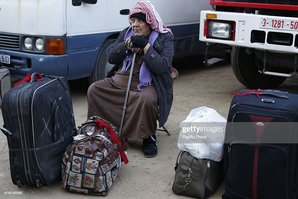 Palestinians waiting permission to enter Egypt as they gather at the Rafah border crossing in the southern Gaza Strip. The Gaza Strip's border crossing with Egypt at Rafah is set to re-open for two days to allow humanitarian aid into the enclave.