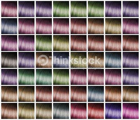 Farbpalette Für Haare Färben Stock Foto Thinkstock