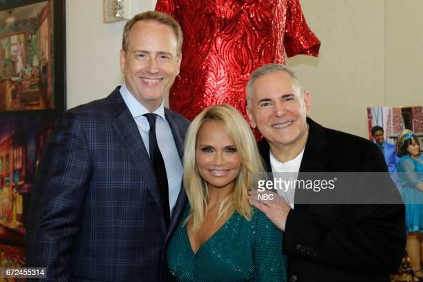LIVE 'Paley Center Hairspray Live Costume Exhibit Opening' Pictured Robert Greenblatt Chairman NBC Entertainment Kristin Chenoweth Craig Zadan...