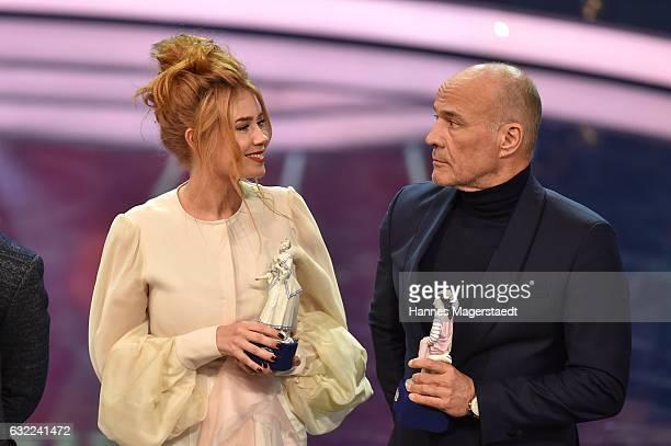 Palina Rojinski and Heiner Lauterbach attend the Bayerischer Filmpreis 2017 at Prinzregententheater on January 20 2017 in Munich Germany