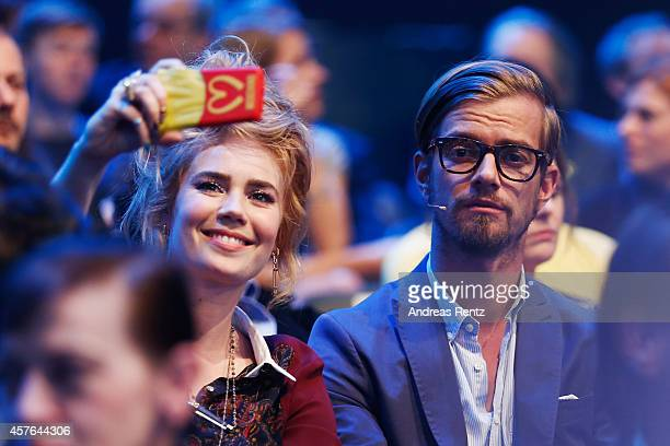 Palina Rojinski and Joko Winterscheidt attend the 18th Annual German Comedy Awards at Coloneum on October 21 2014 in Cologne Germany The show will be...