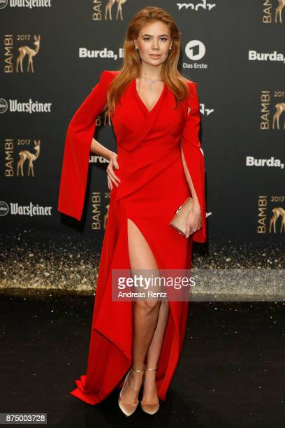 Palina Rojinski arrives at the Bambi Awards 2017 at Stage Theater on November 16 2017 in Berlin Germany