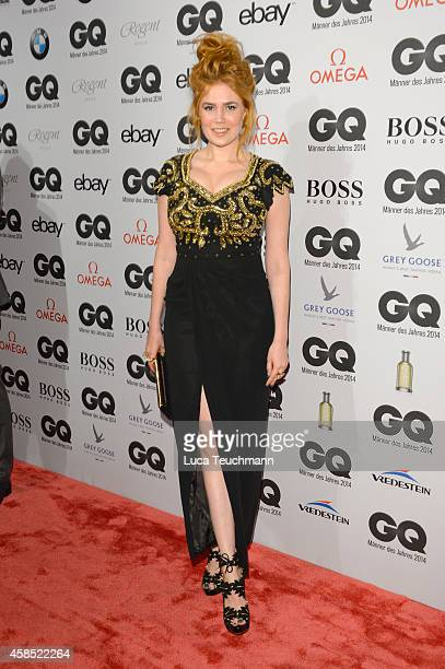 Palina Rojinski arrives at the GQ Men of the Year Award 2014 at Komische Oper on November 6 2014 in Berlin Germany